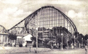 Cyclone Coaster by Harry Guy Traver at Crystal Beach Park in 1945 (A)