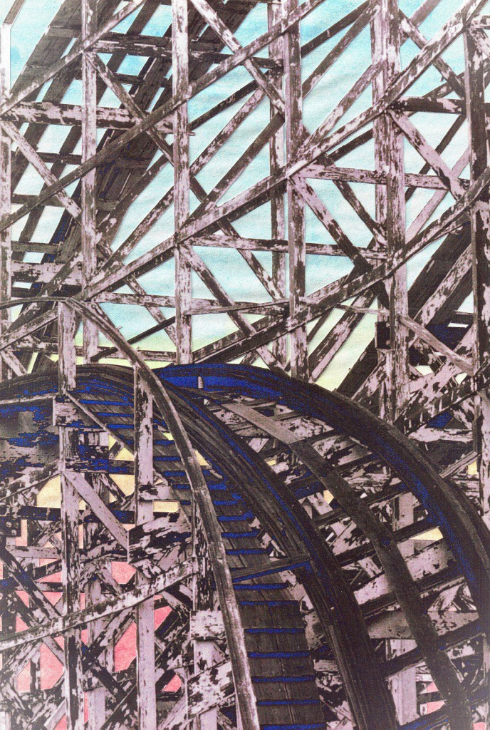 Derelict Roller Coaster by Mary Eileen Hibberd