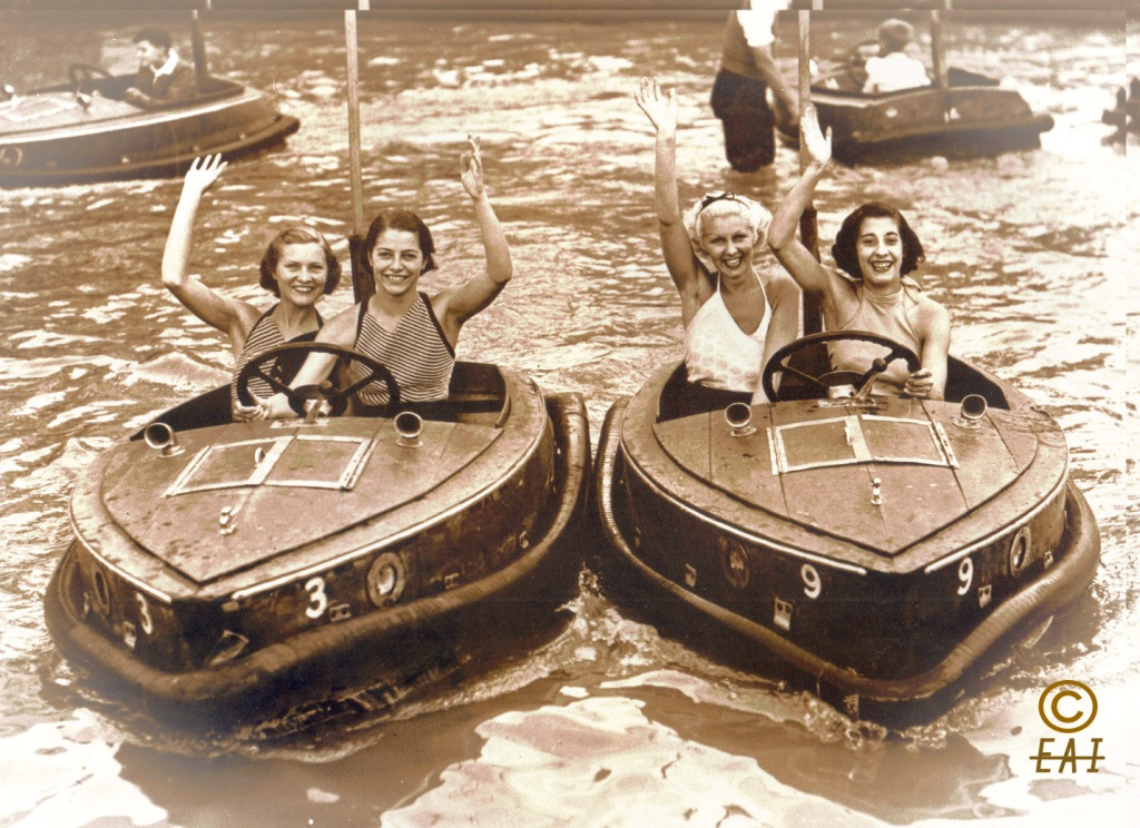 Library Image - Water Bumper-Boats at Dreamland, Margate 1955 (PS) (Comp.)