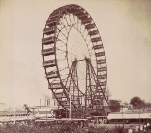 Giant Pleasure Wheel at the Chicago Exposition 1903