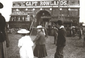 Rowlands' Bioscope Show at St. Day, Cornwall in 1896