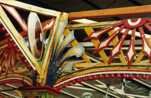 Fairground Decoration to R. Edwards Dodg'ems by Fred Fowle