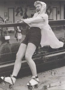 Media Image 031 - First Time on Roller Skates, Margate, Kent 1956 (RP)