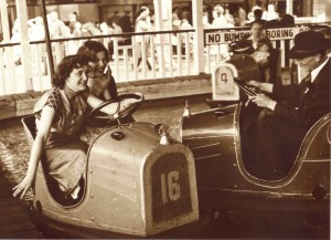 Media Image 042 - Girls on the Dodgems, Margate, Kent 1951 (RP)