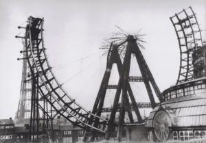 Demolition of the Blackpool Giant Wheel in 1928