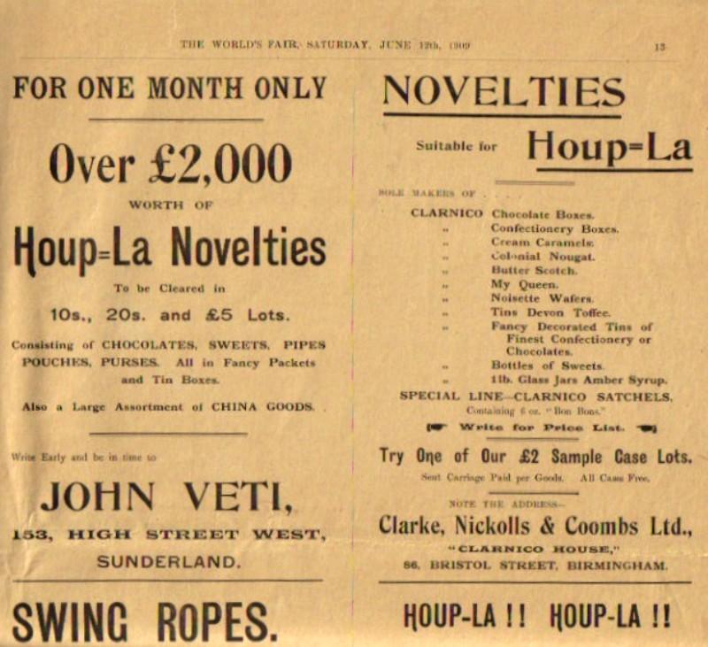 World's Fair Advertisement 1909